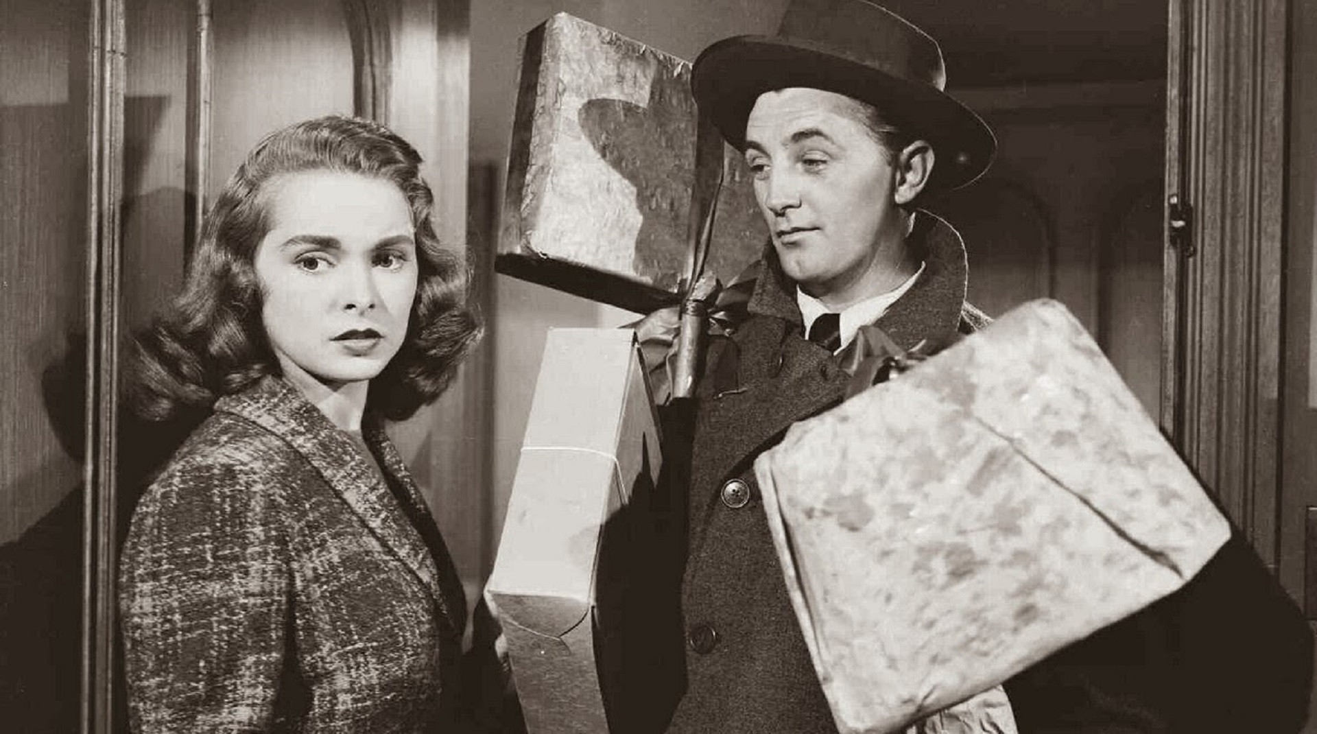Janet Leigh mit Robert Mitchum in Holiday Affair; Copyright: RKO Radio Pictures