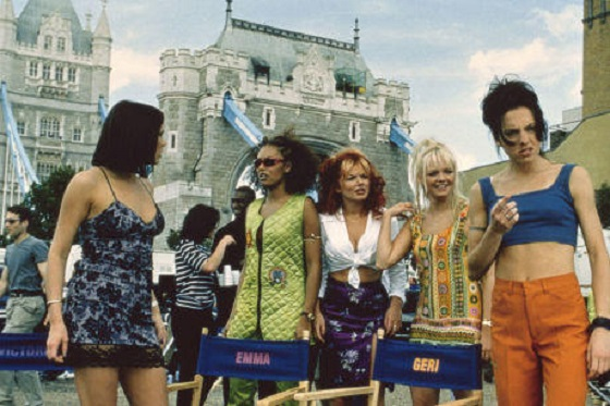 Die Spice Girls in Aktion