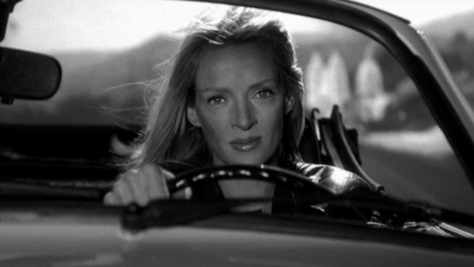 Uma Thurmann fährt Auto in KILL BILL