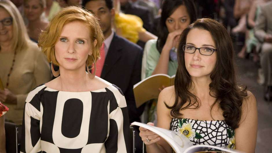 Cynthia Nixon (l.) in Sex and the City
