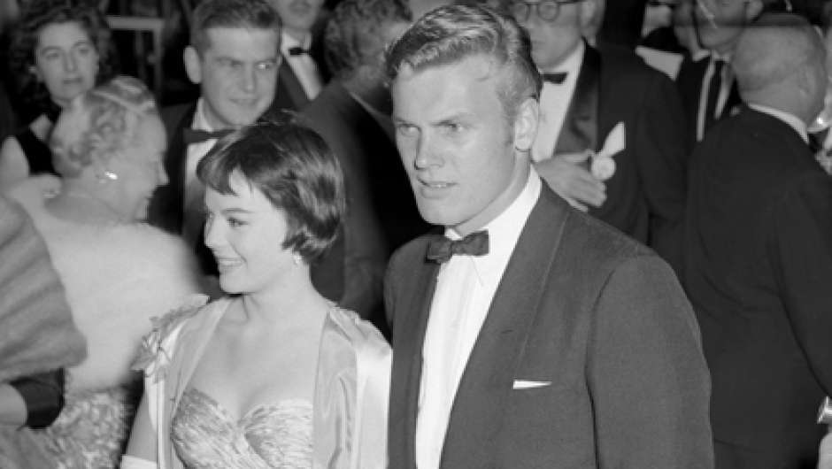 Tab Hunter mit Natalie Wood bei den Academy Awards 1956