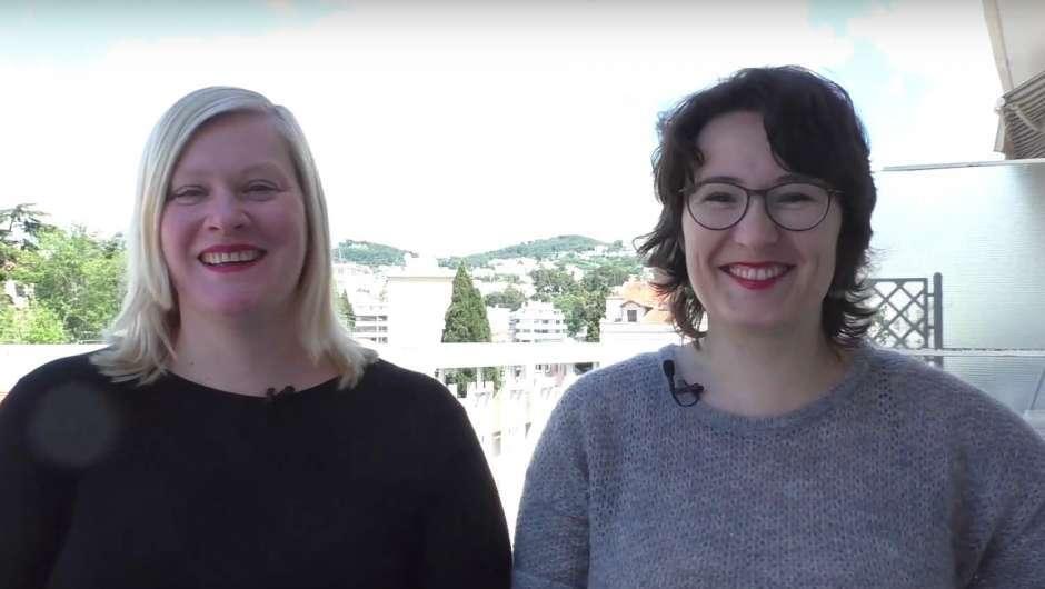 Beatrice Behn und Maria Wiesner in Cannes