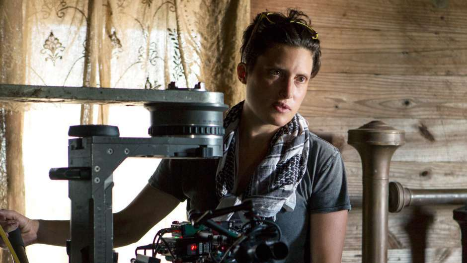 Rachel Morrison am Set von Mudbound