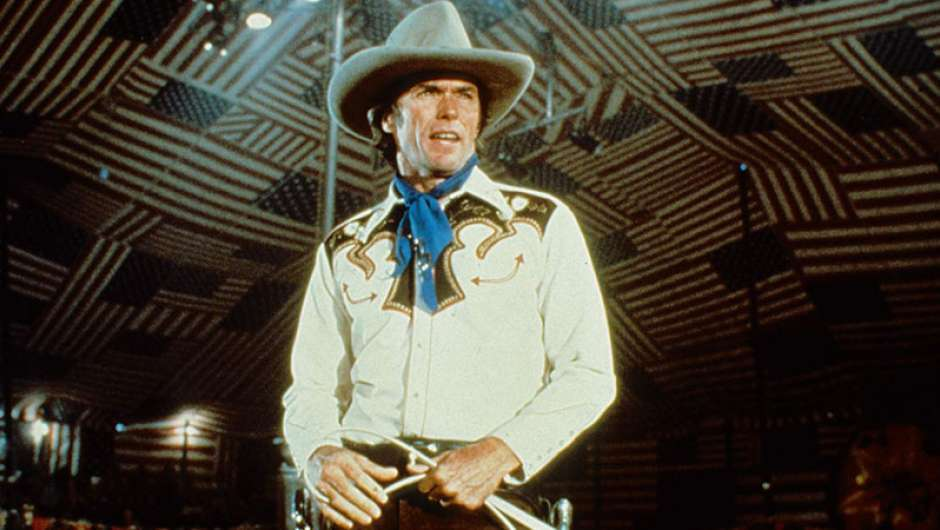 "Clint Eastwood in seinem Film ""Bronco Billy"""