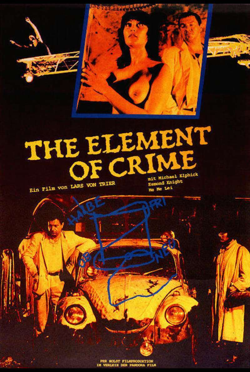 Element of Crime - Forbrydelsens element Plakat
