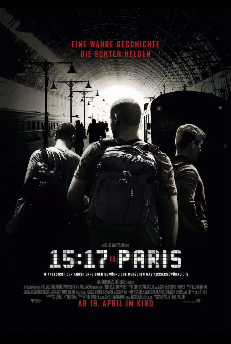 Poster zu The 15:17 to Paris von Clint Eastwood