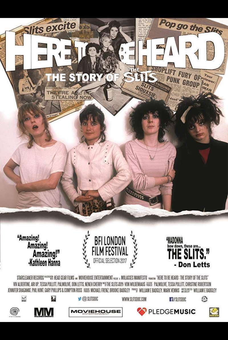 Poster zu Here to Be Heard: The Story of the Slits - Filmplakat (UK)