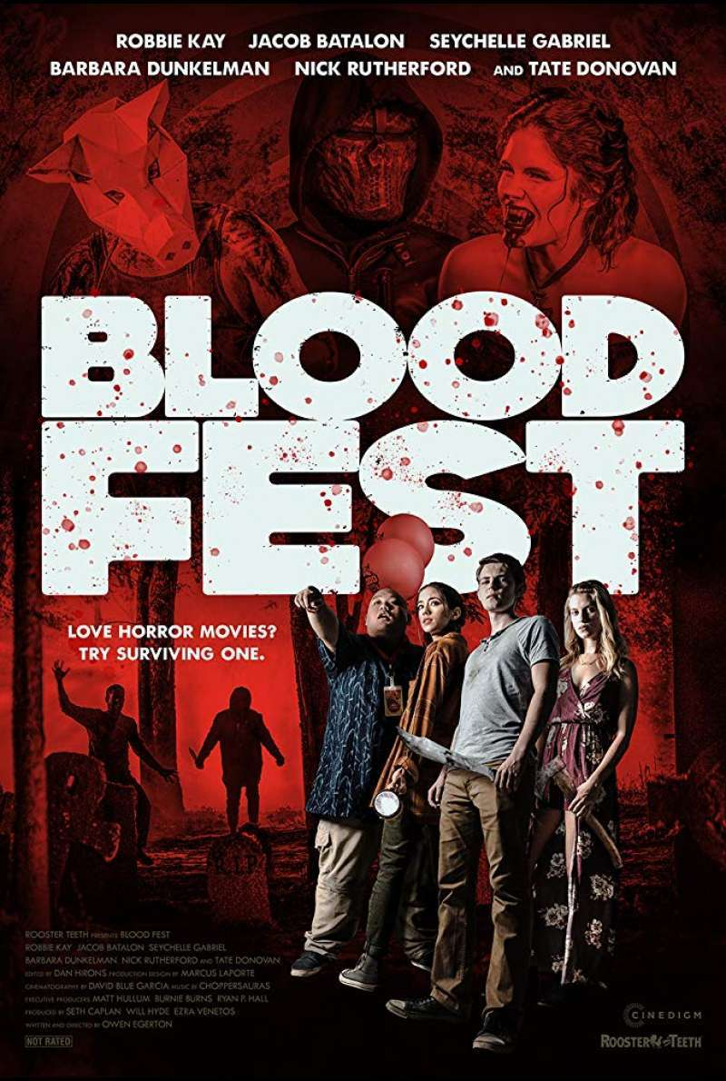 US-Filmplakat zu Blood Fest (2018)