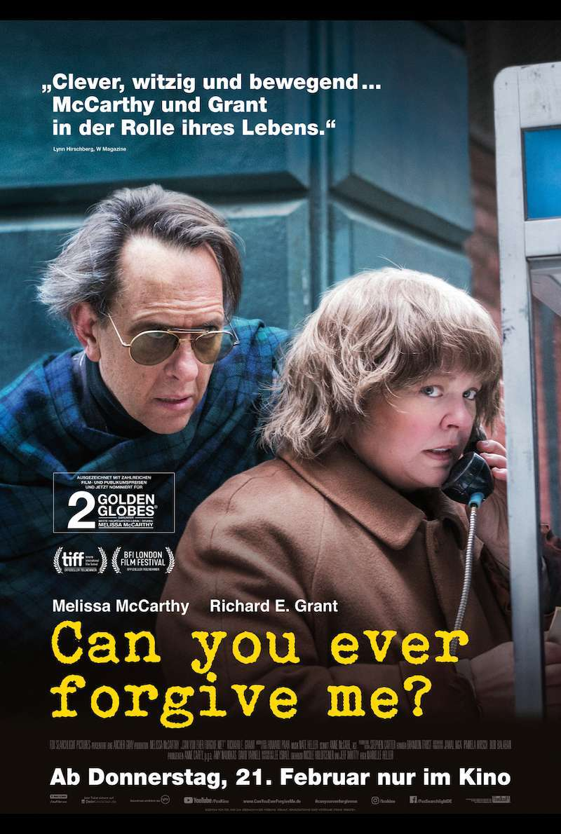 Filmplakat zu Can You Ever Forgive Me? (2018)