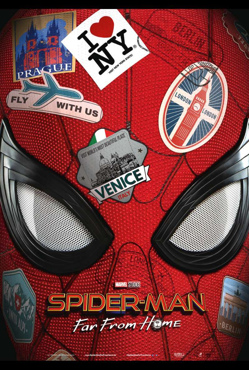 Teaserplakat zu Spider-Man: Far From Home (2019)