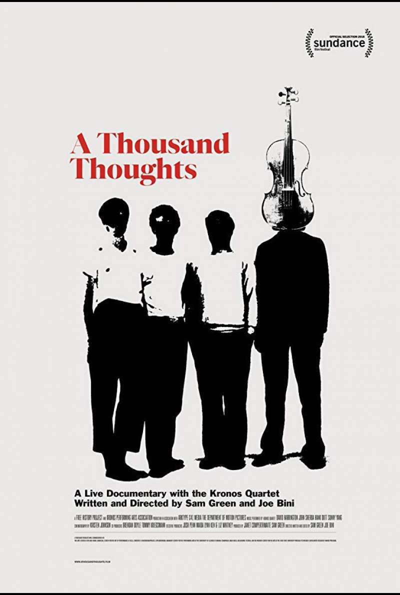 US-Plakat zu A Thousand Thoughts (2018)
