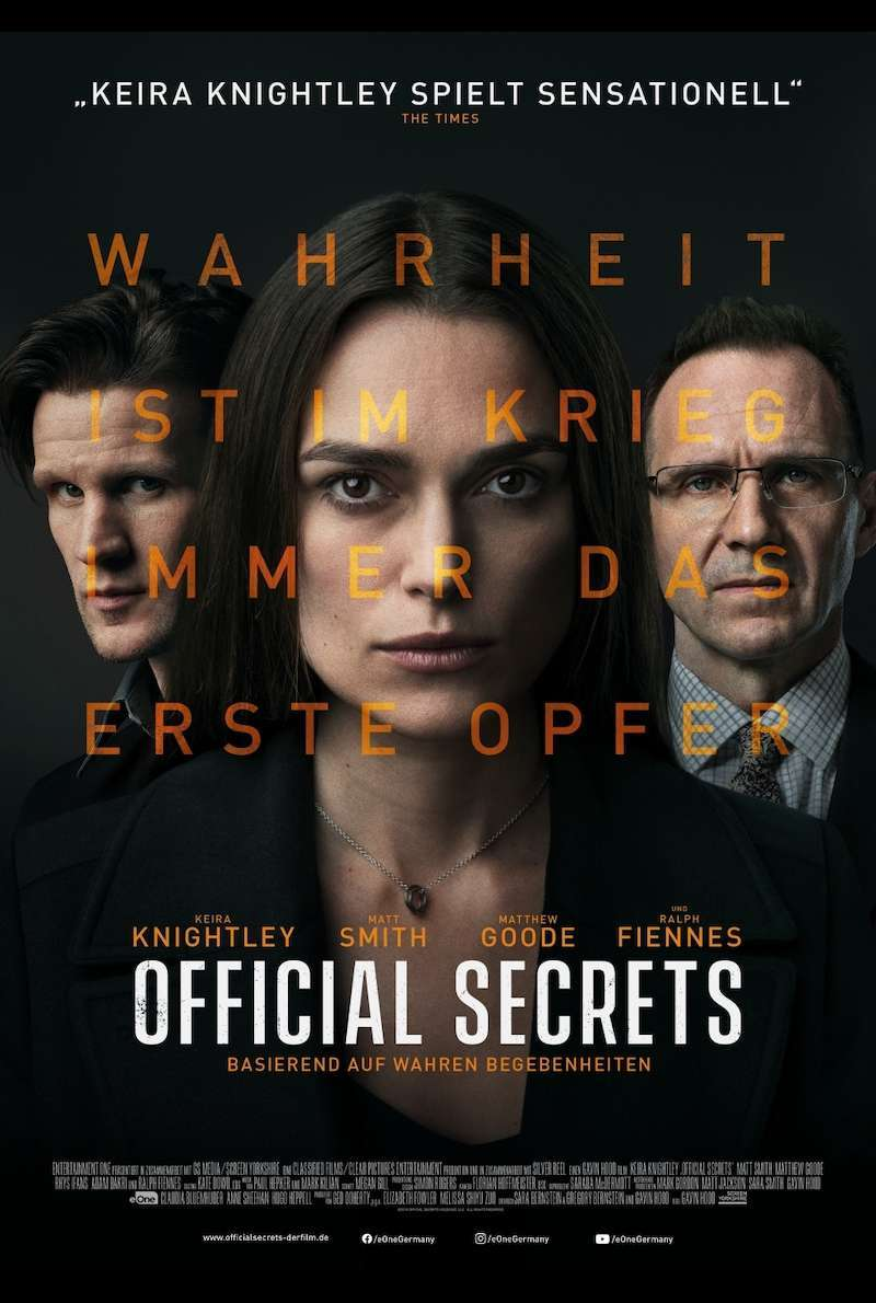 Filmplakat zu Official Secrets (2019)