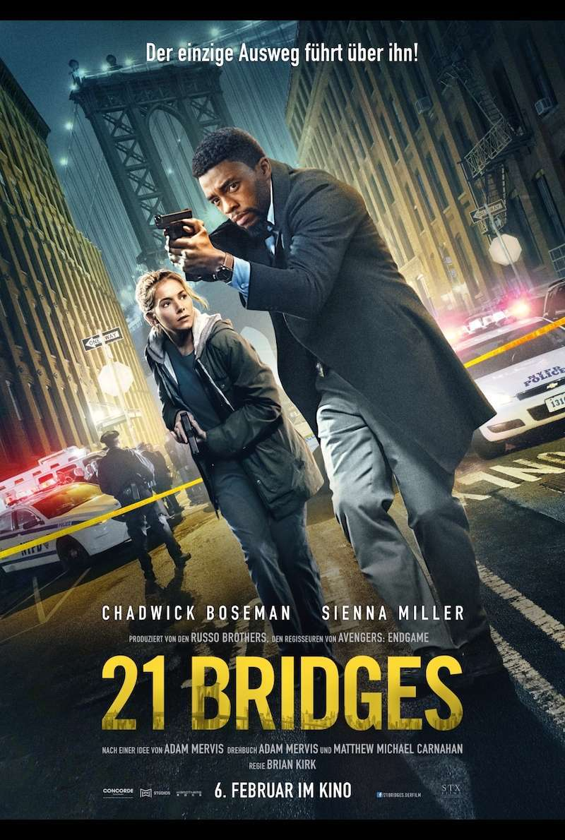 Filmplakat zu 21 Bridges (2019)