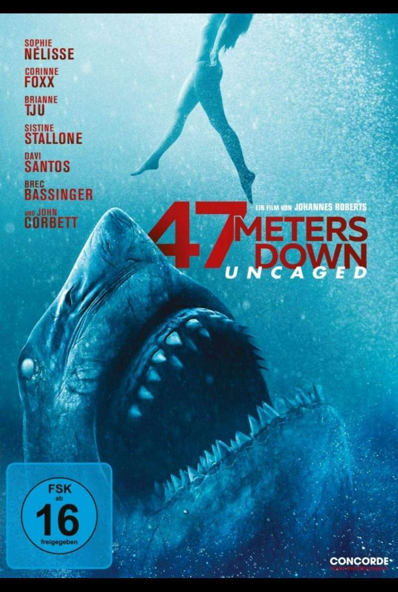 47 Meters Down Uncaged DVD Cover