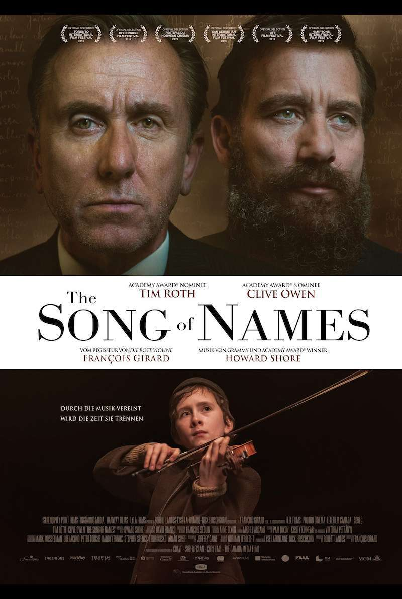 Filmplakat zu The Song of Names (2019)