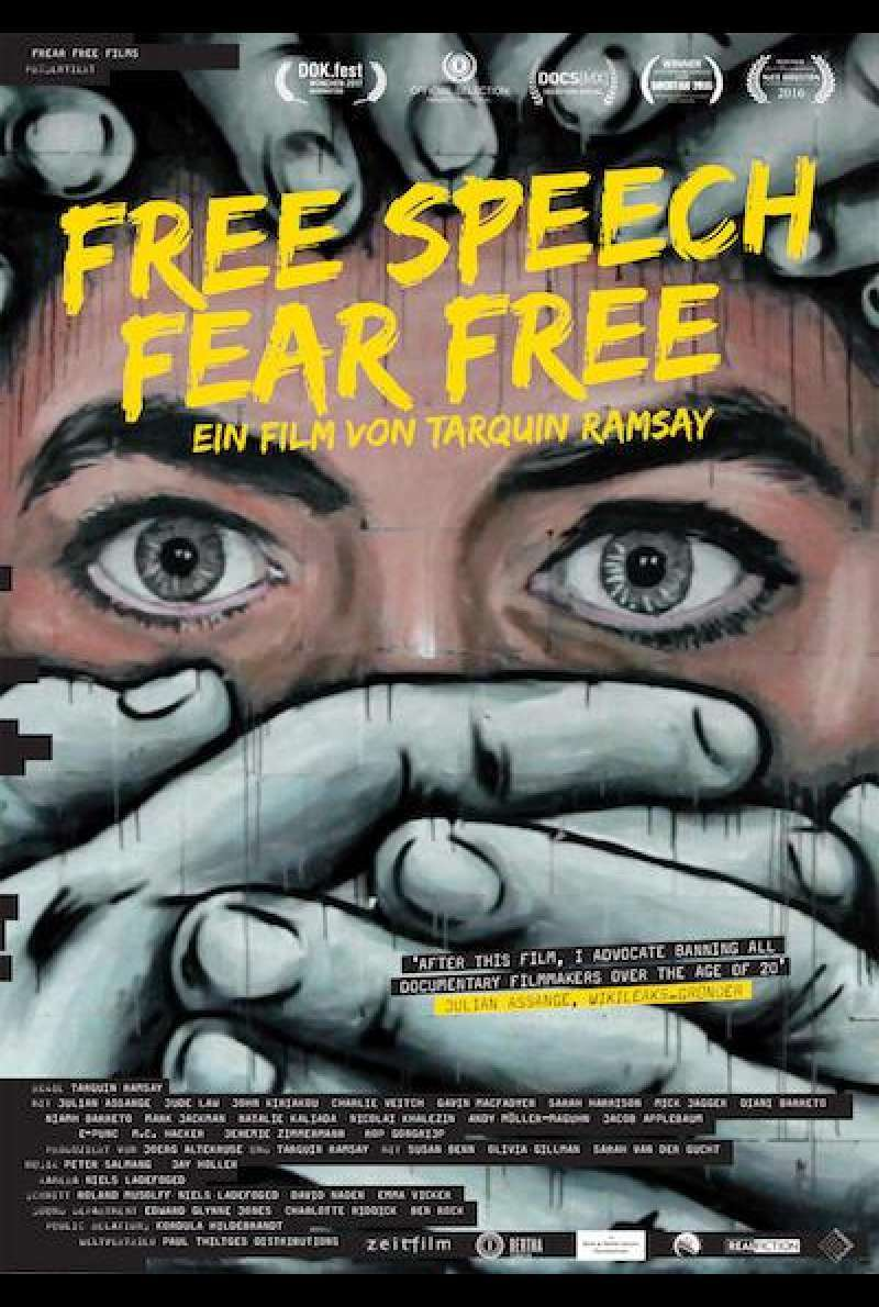 Free Speech Fear Free - Filmplakat