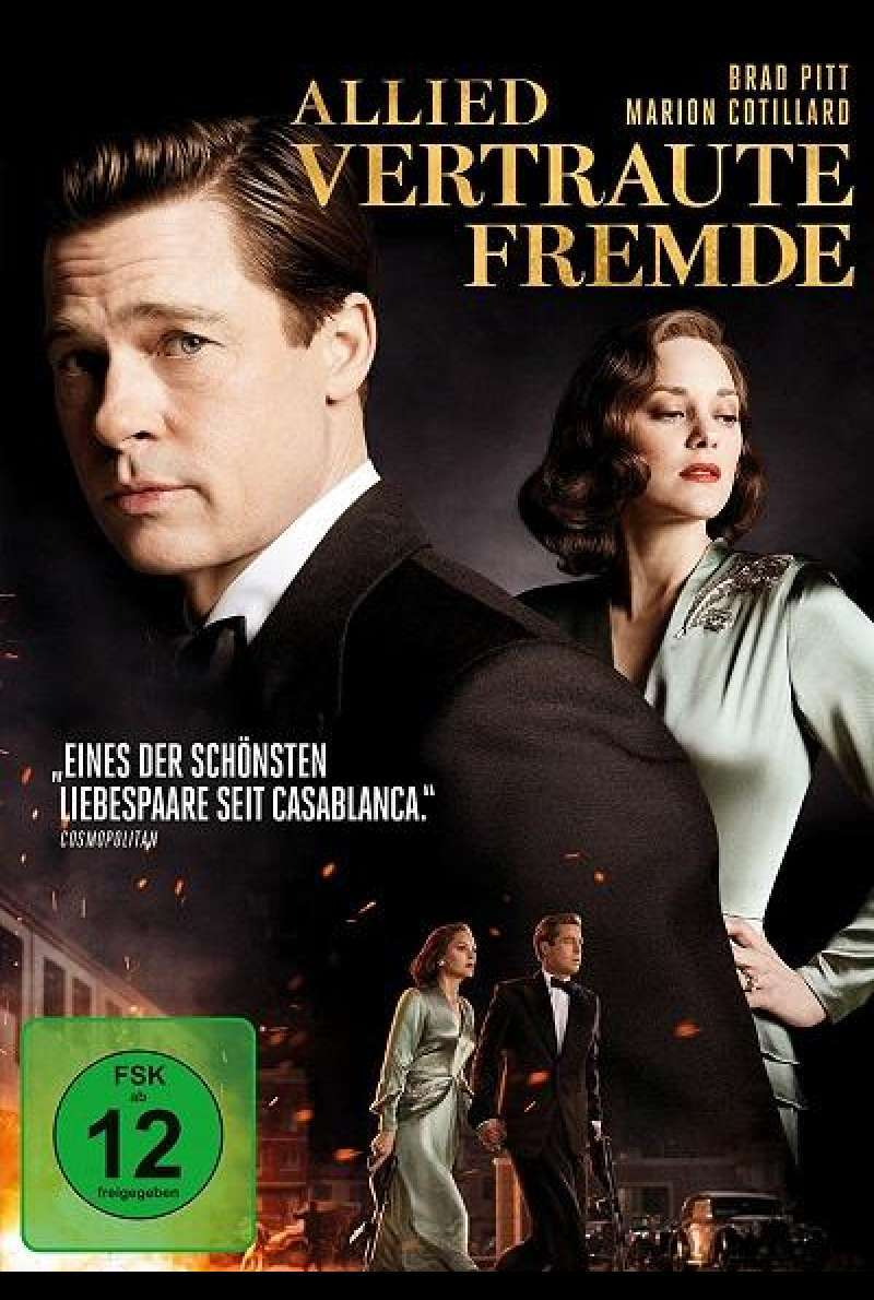 Allied: Vertraute Fremde - DVD-Cover