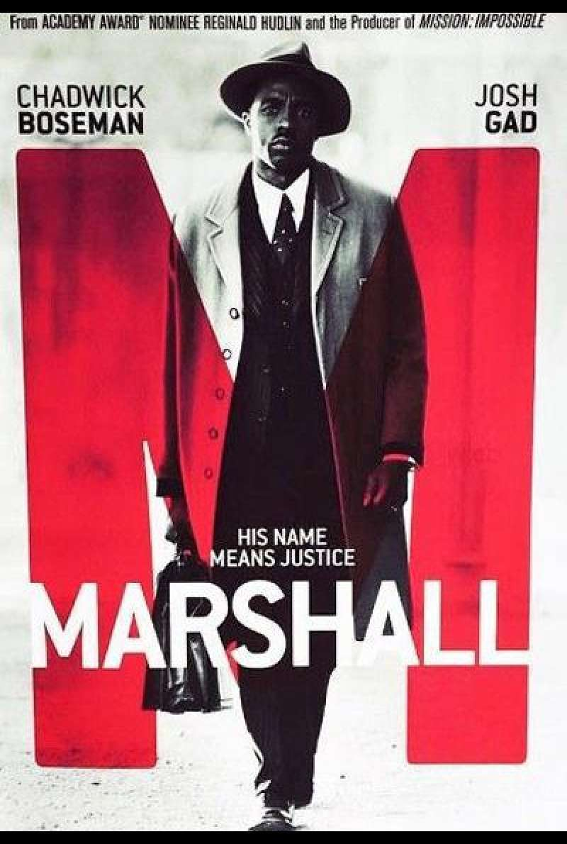 Marshall von Reginald Hudlin - Filmplakat (US)