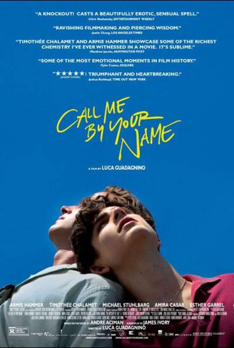 Call Me by Your Name von Luca Guadagnino - Filmplakat