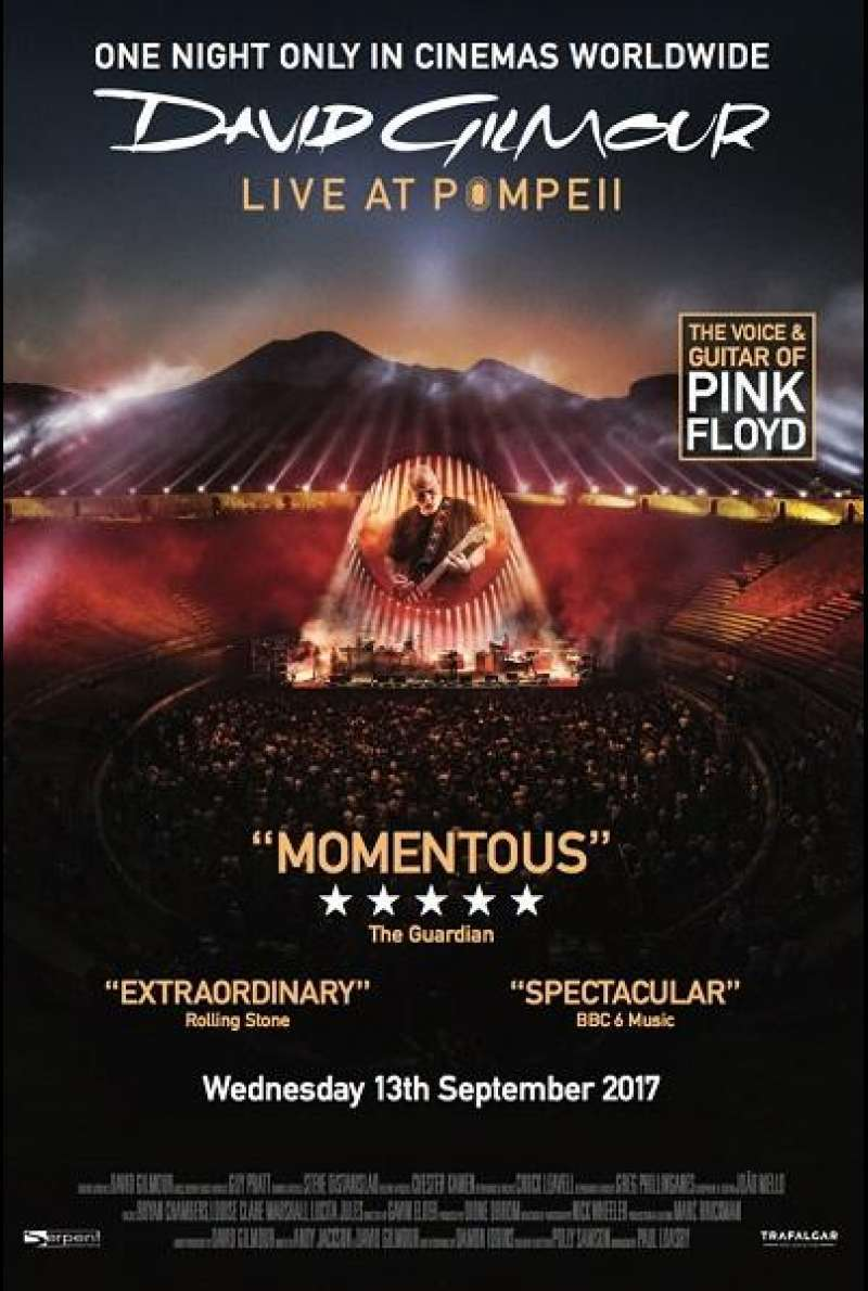David Gilmour: Live At Pompeii - Filmplakat (INT)