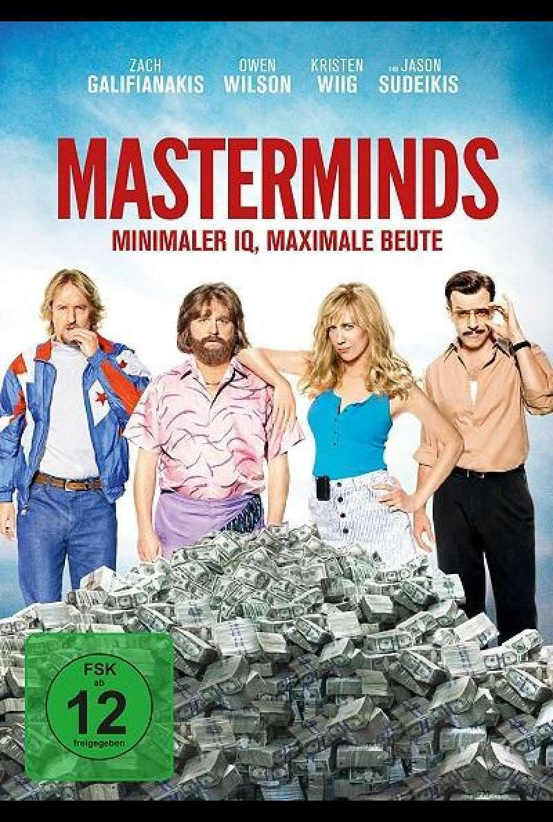 Masterminds - Miminaler IQ, maximale Beute - DVD-Cover