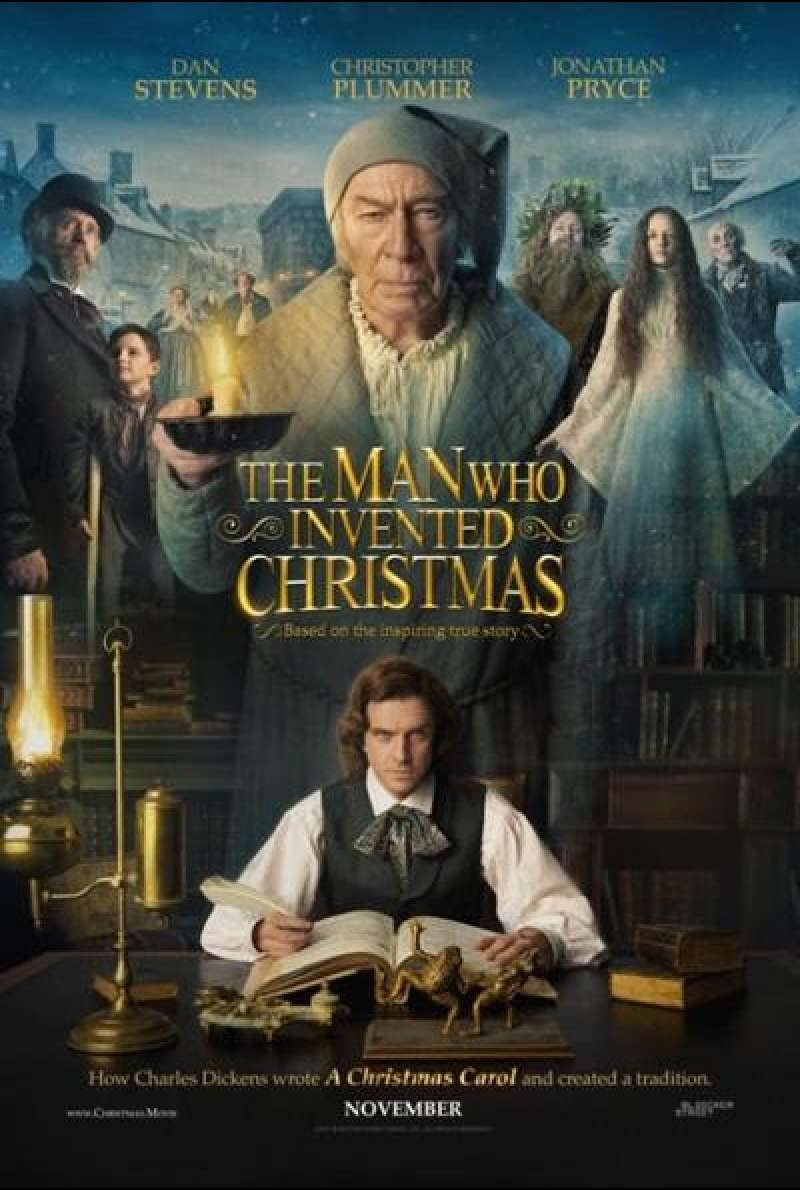 The Man Who Invented Christmas von Bharat Nalluri - Filmplakat