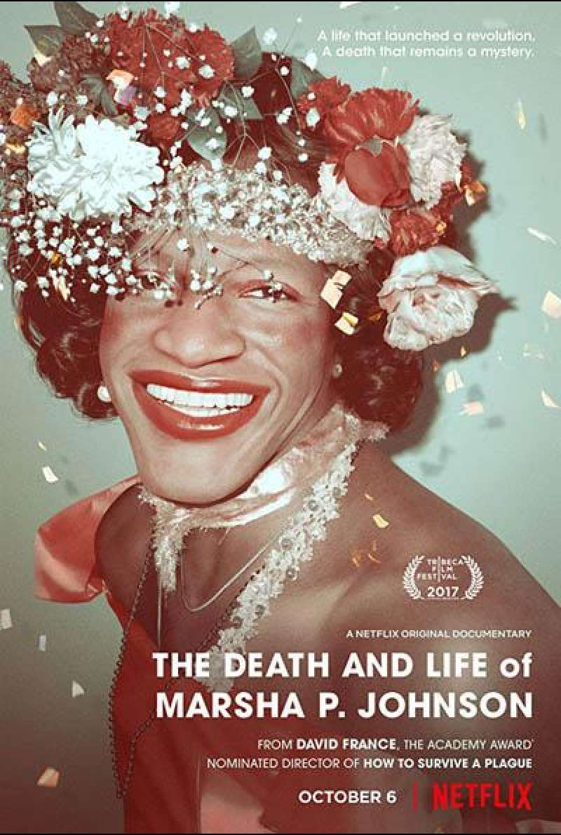The Death and Life of Marsha P. Johnson von David France - Filmplakat