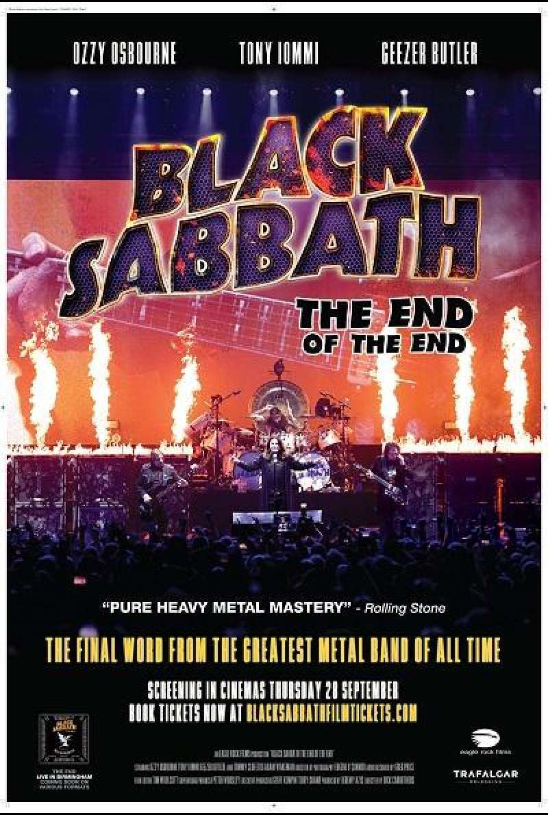 Black Sabbath - The End of the End - Filmplakat (INT)