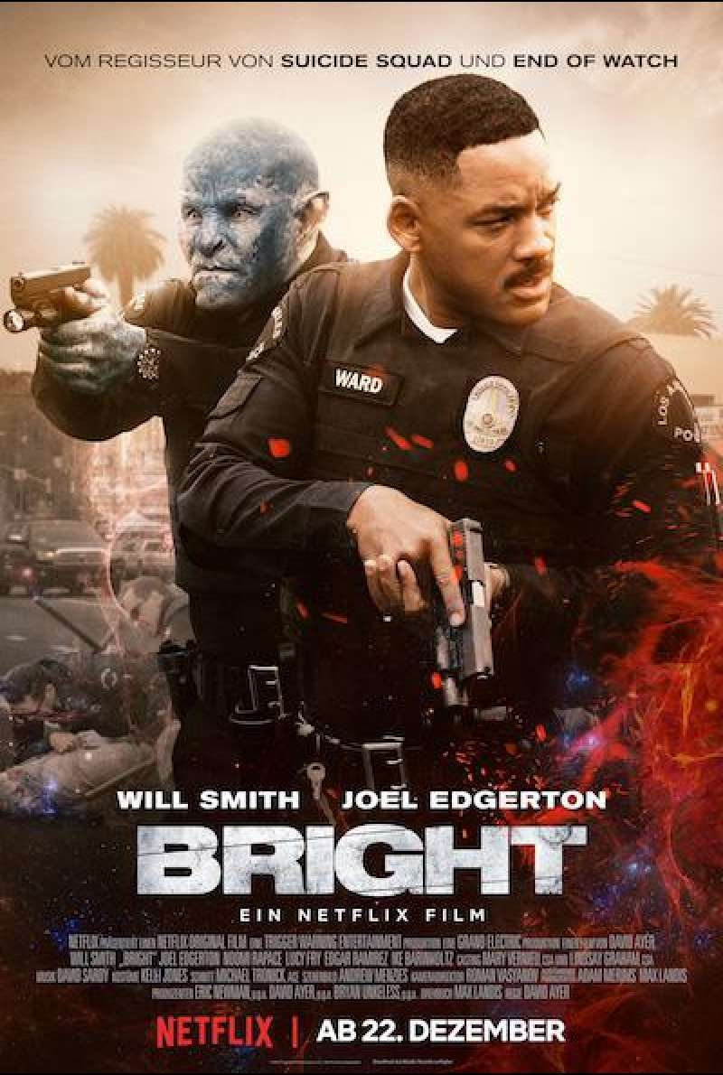 Bright von David Ayer - Plakat