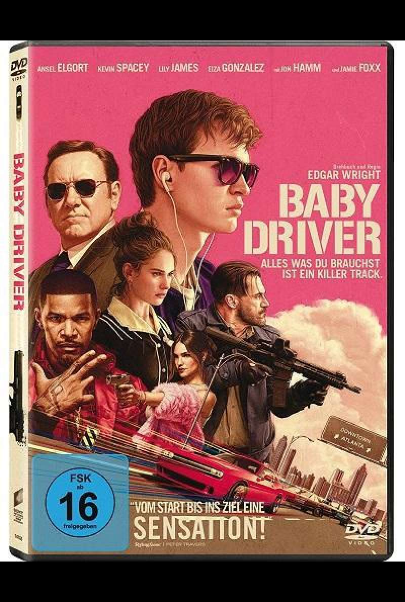 Baby Driver - DVD-Cover