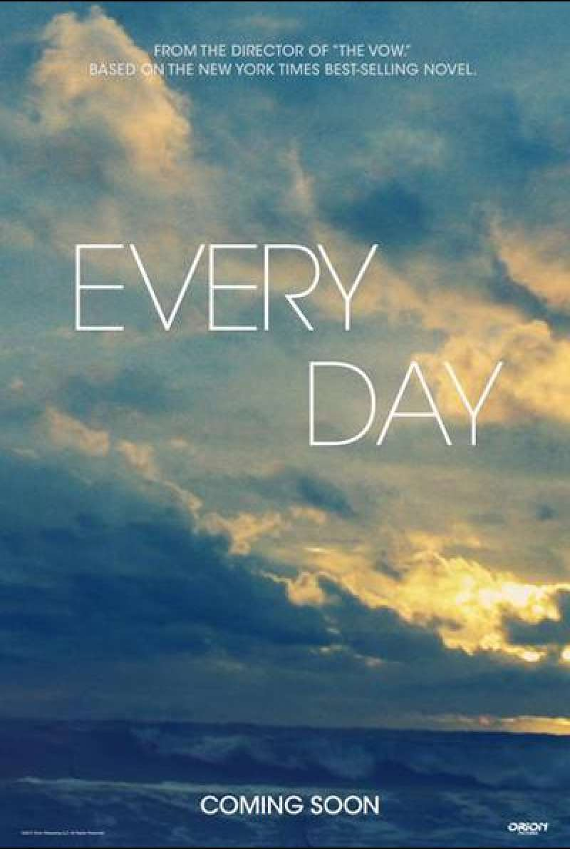 Every Day von Michael Sucsy - Teaserplakat