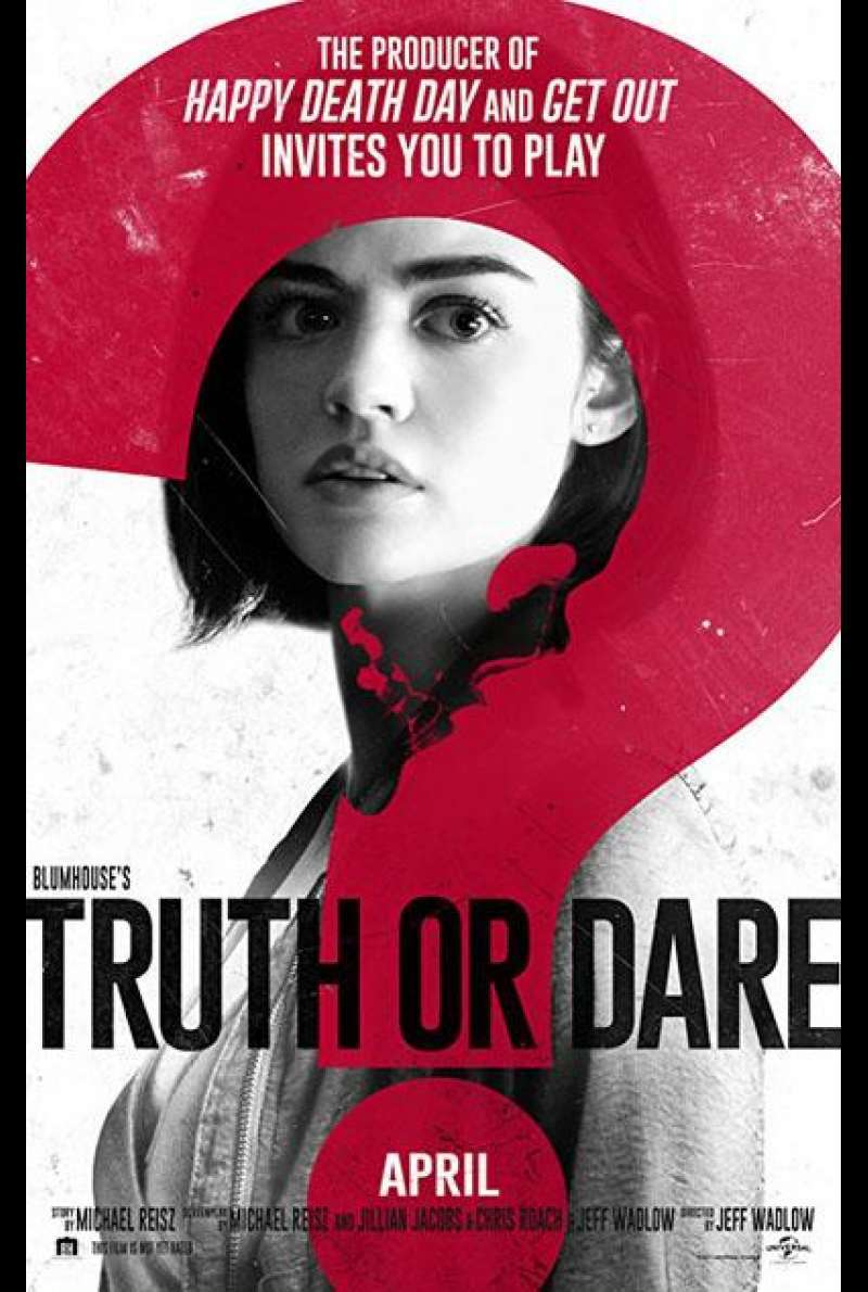 Truth or Dare von Jeff Wadlow - Filmplakat (US)