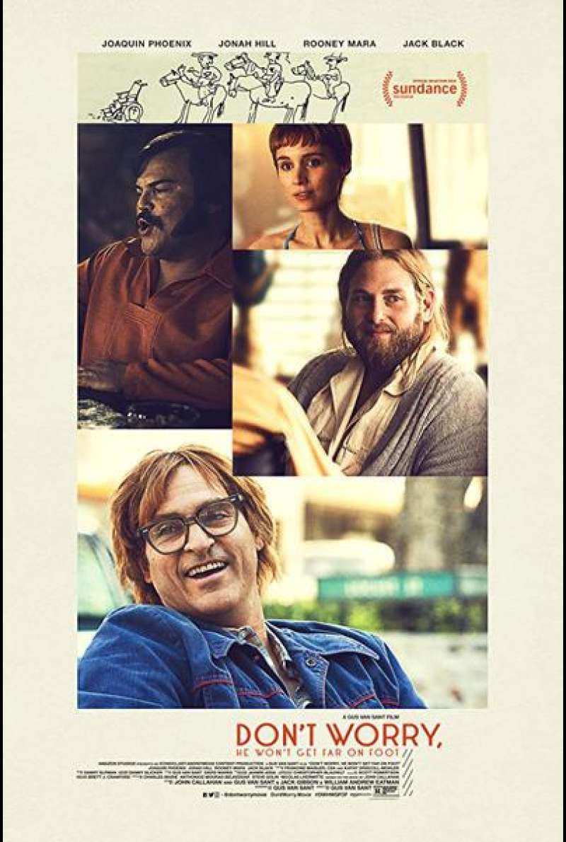 Don't Worry, He Won't Get Far on Foot von Gus Van Sant - Filmplakat (US)