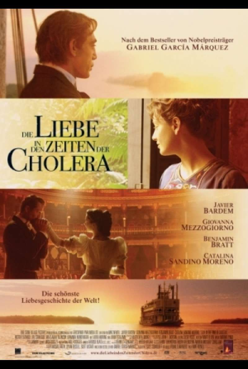 Filmplakat zu Die Liebe in den Zeiten der Cholera / Love in the Time of Cholera von Mike Newell