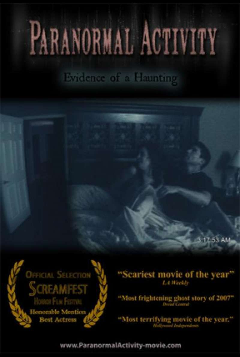 Paranormal Activity - Filmplakat