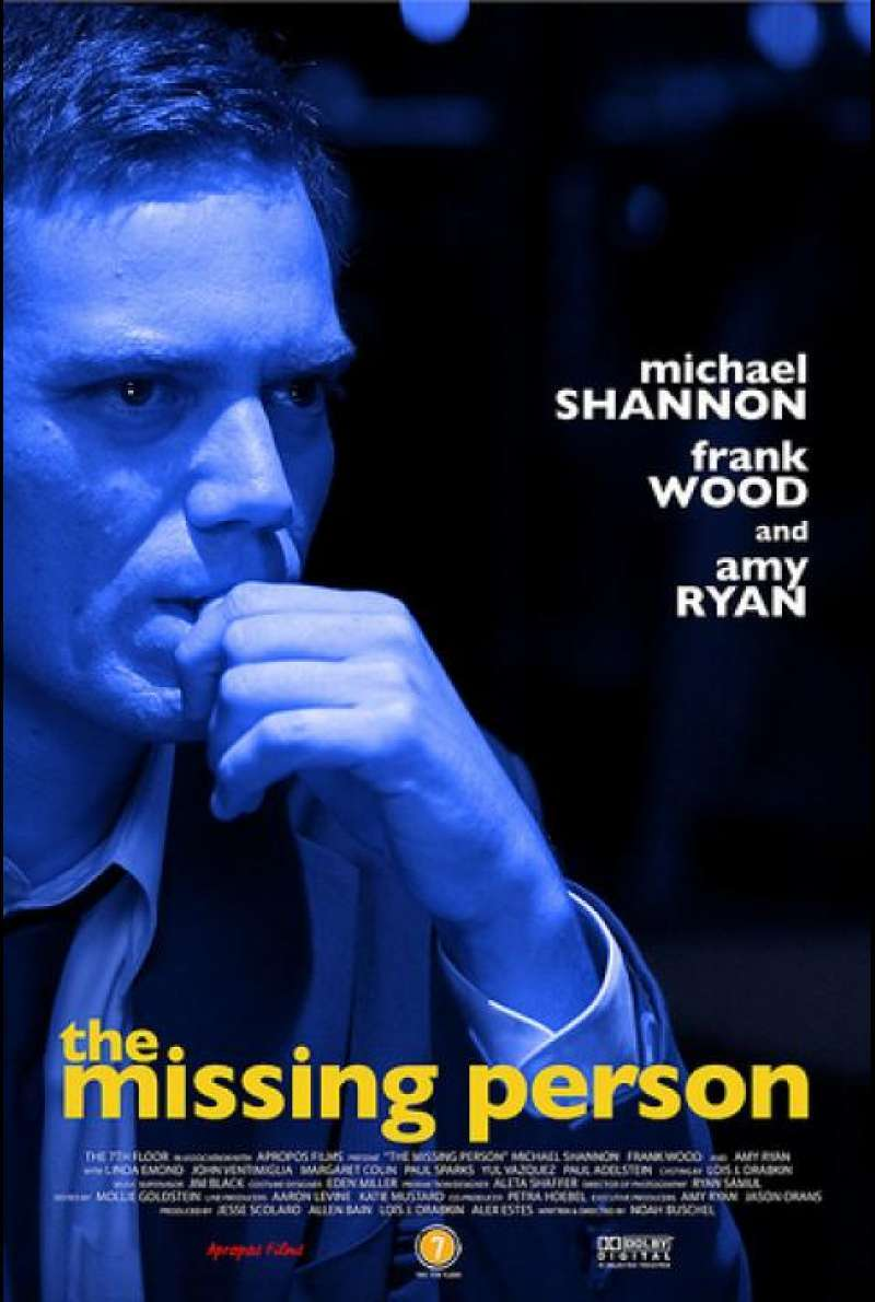 The Missing Person - Filmplakat (US)