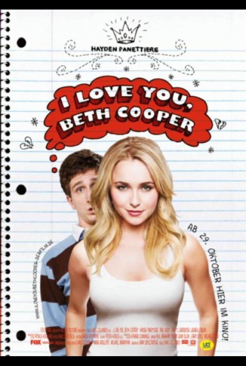 I Love You, Beth Cooper - Filmplakat