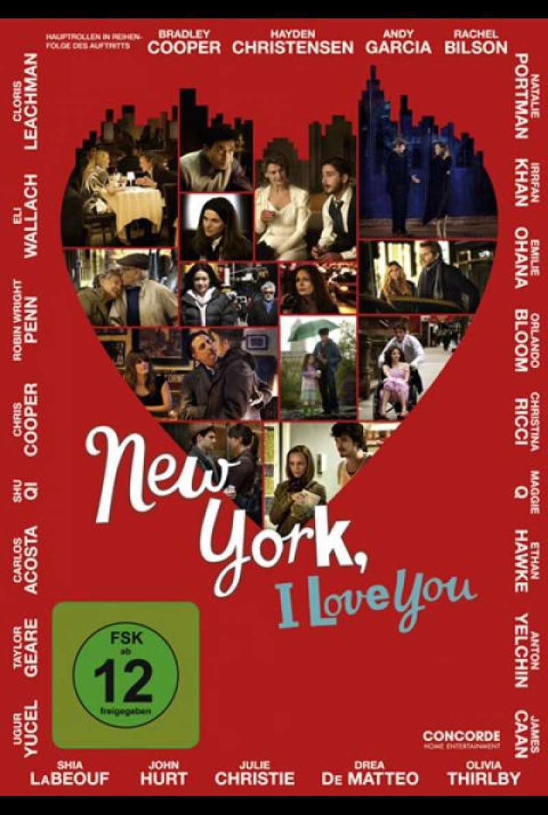 New York, I Love You - DVD-Cover