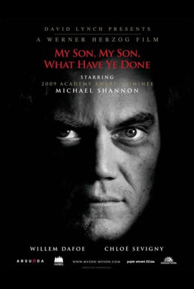 My Son, My Son, What Have Ye Done - Filmplakat (US)
