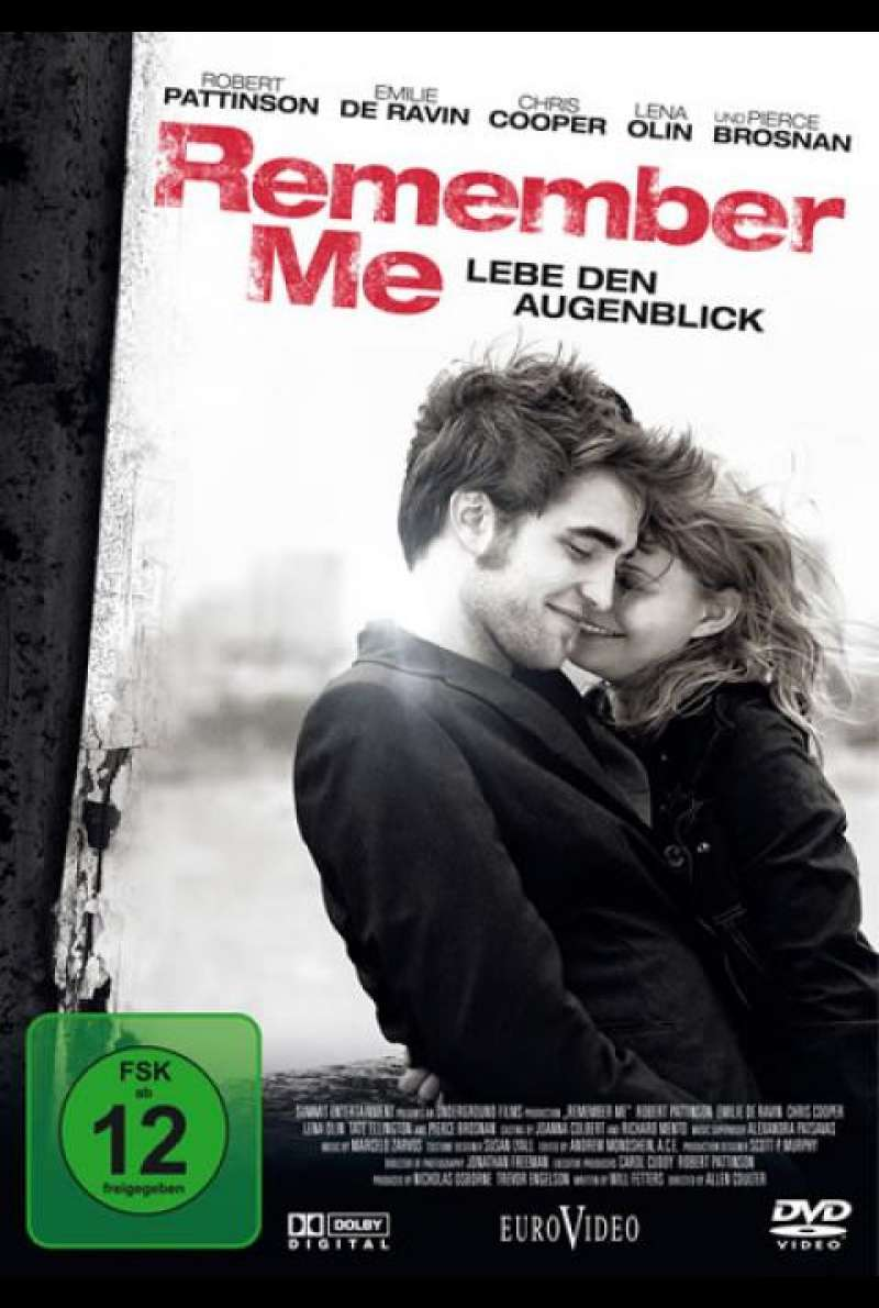 Remember Me - Lebe den Augenblick - DVD-Cover