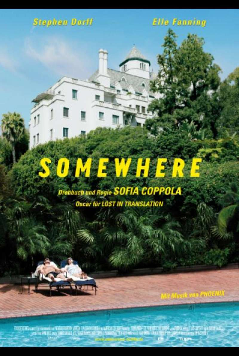 Somewhere von Sofia Coppola - Filmplakat