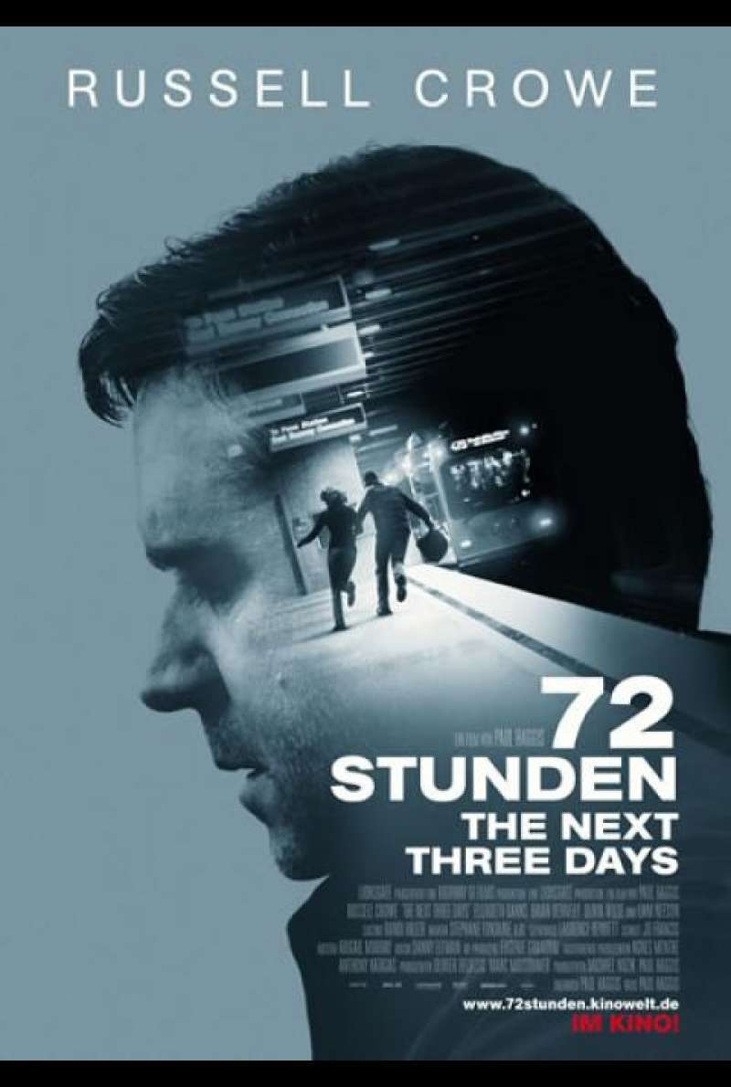 72 Stunden - The Next Three Days - Filmplakat