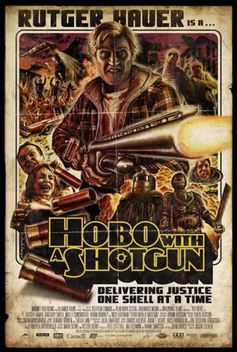 Hobo with a Shotgun - Filmplakat (US)