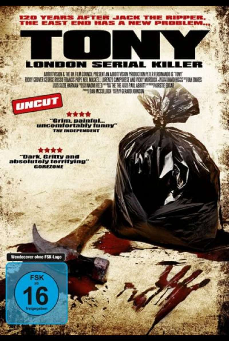 Tony - London Serial Killer - DVD-Cover