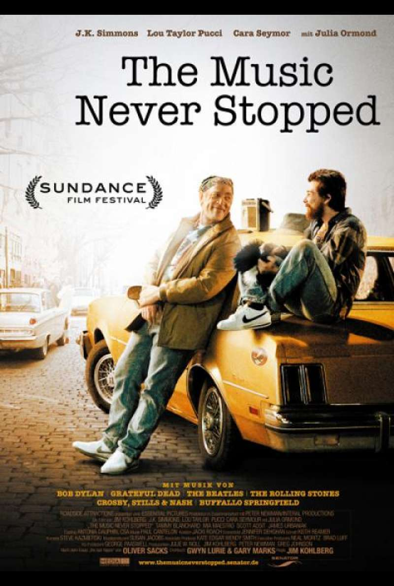 The Music Never Stopped - Filmplakat