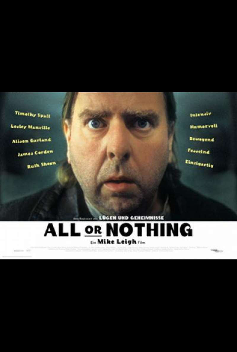 All or Nothing - Filmplakat