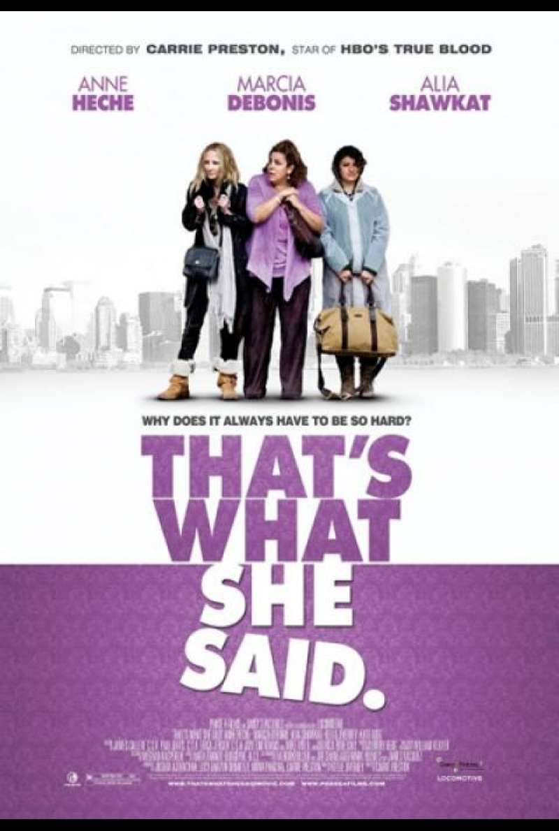 That's What She Said - Filmplakat (US)