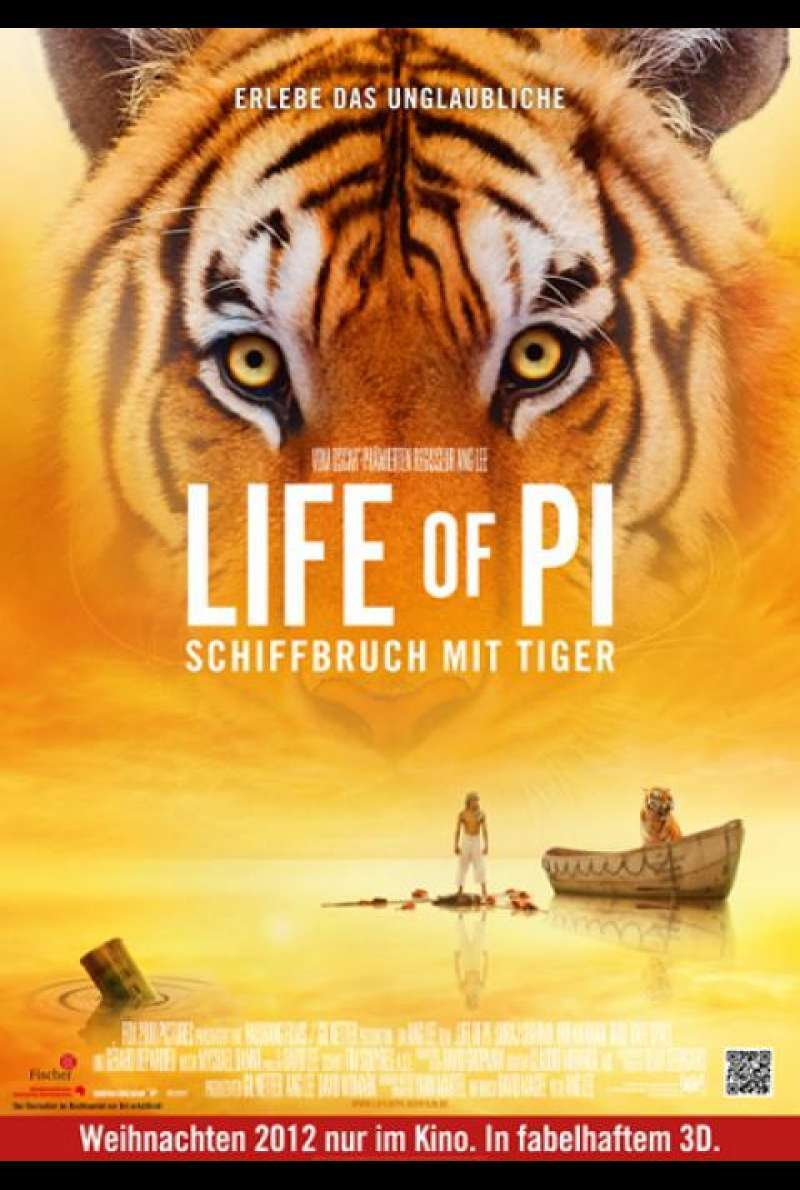 Life of Pi: Schiffbruch mit Tiger - Teaserplakat (D)