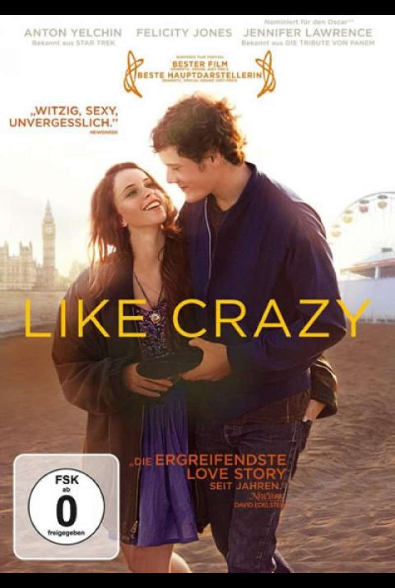Like Crazy - DVD-Cover