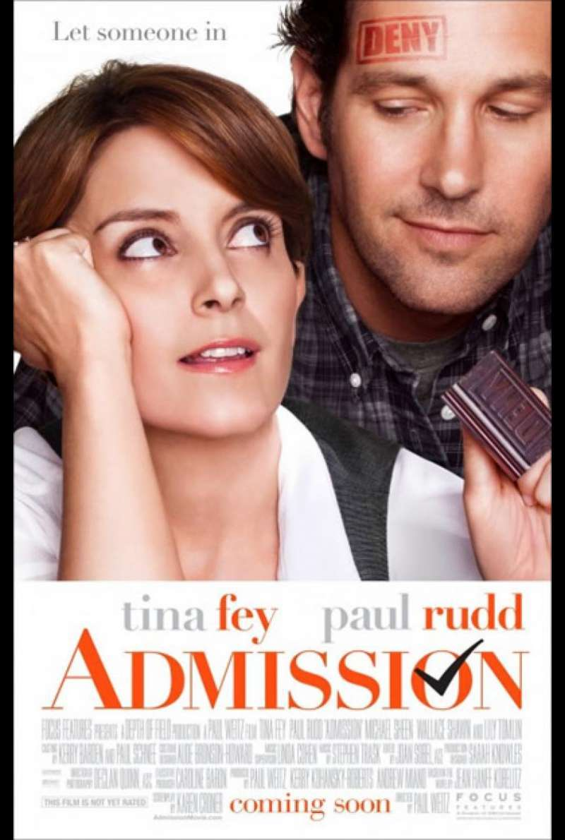 Admission - Filmplakat (US)